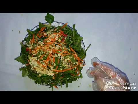 Cách làm nộm rau muống ,cà rốt chua ngọt thật đơn giản mà ngon tuyệt