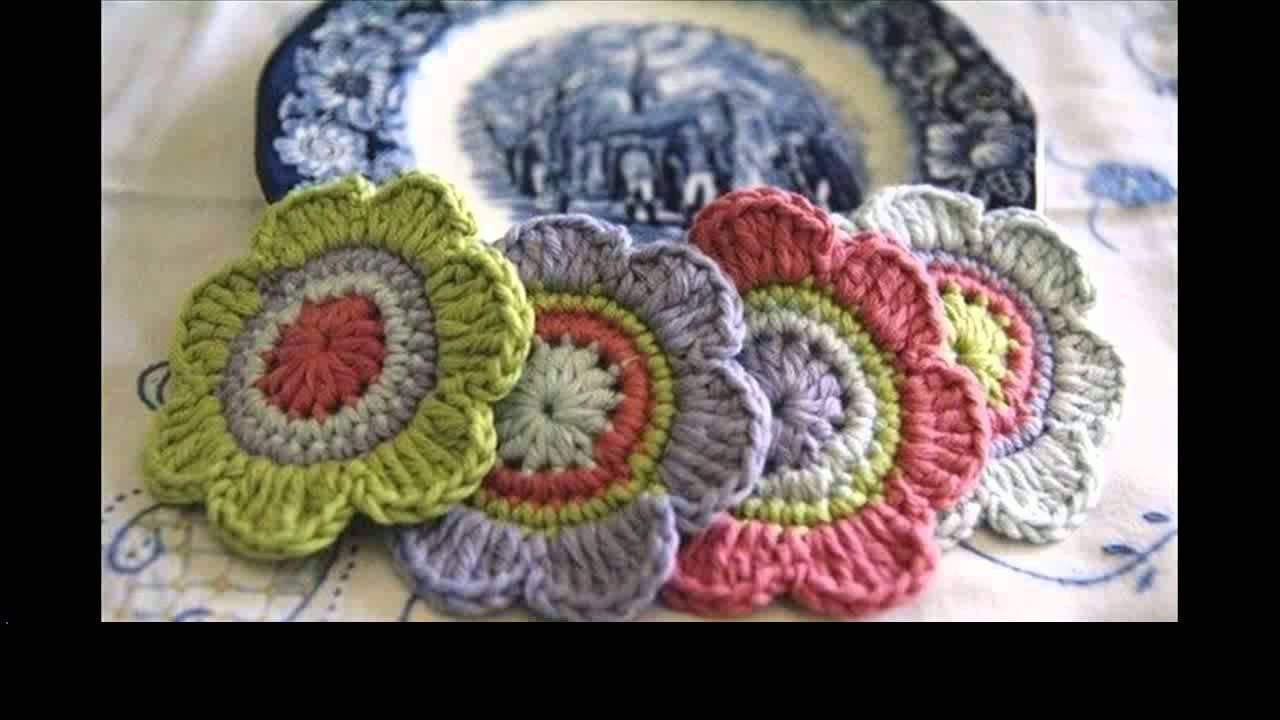crochet flower tutorial for beginners - YouTube