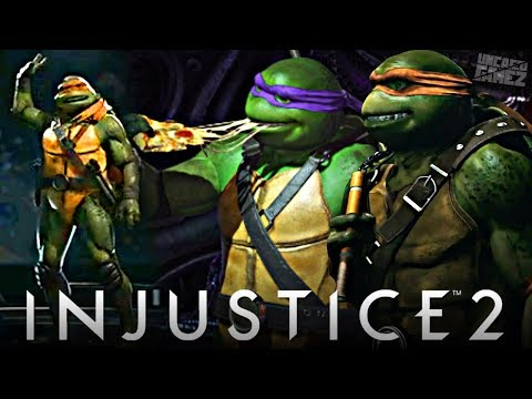 Injustice 2: NEW TMNT Images Revealed, & Gameplay Trailer Announced!!