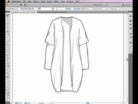 Adobe Illustrator Clothing Design Illustrator CS Pen Tool used