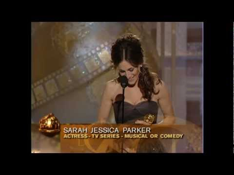 Sarah Jessica Parker Wins Best Actress TV Series Musical or Comedy - Golden Globes 2004