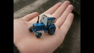 Как слепить Трактор из пластилина МТЗ-82 Беларус (How to sculpt from plasticine Tractor)