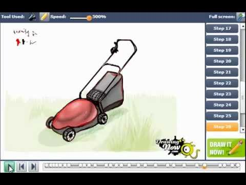 Lawn Mower Drawings How to Draw a Lawn Mower