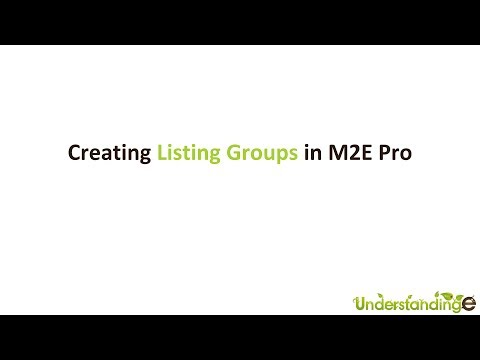 Creating Listing Groups in M2E Pro