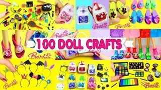 100 DIY Miniature Barbie Dollhouse Accessories #3  - simplekidscrafts