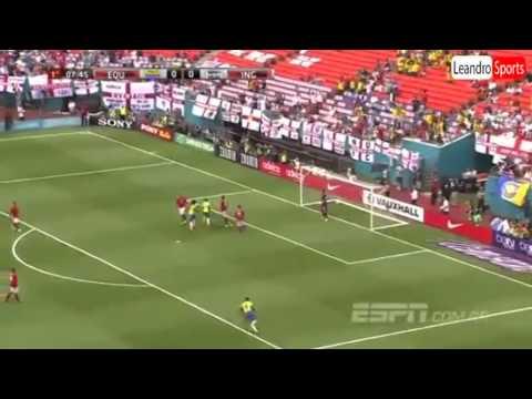 Ecuador vs Inglaterra 2014.EL PRIMER GOLAZO DE CABEZA DEL EQUIPO ECUATORIANO