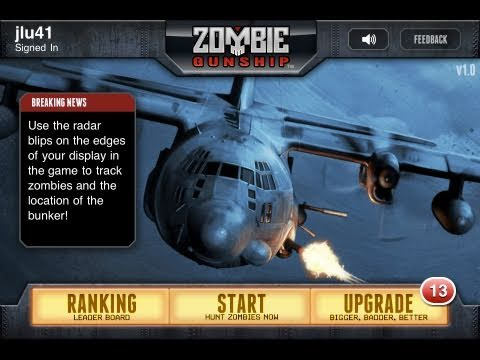 Zombie Gunship: iPhone/ipod touch App Review (AC130 ZOMBIE KILLER!)