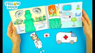 HOSPITAL PAPER QUIET BOOK DOCTOR & MEDICAL KIT CRAFTS FOR KIDS