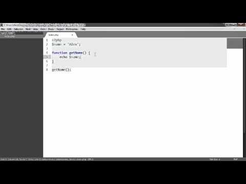 Learn PHP: Variable Scope