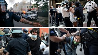 Violent mayhem in Manhattan and Brooklyn -- over 100 arrested, cop cars torched