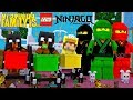 Minecraft MY SUPERHRO FAMILY IS.......... LLYOD, KAI AND COLE FROM LEGO NINJAGO!!