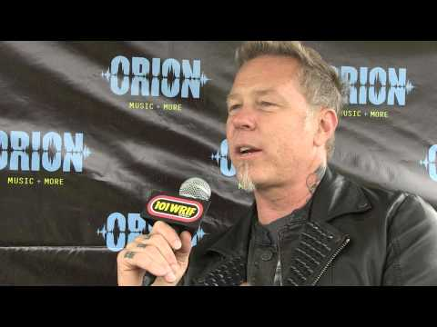 Metallica - James Hetfield Interview w/ 101 WRIF - Orion Festival Detroit