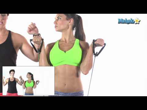 How to Do a Shoulder Press with Resistance Bands Image 1