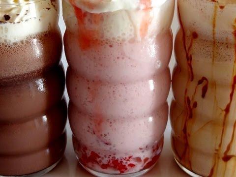 Receta: Batidos helados 3 sabores; Fresa, chocolate y vainilla