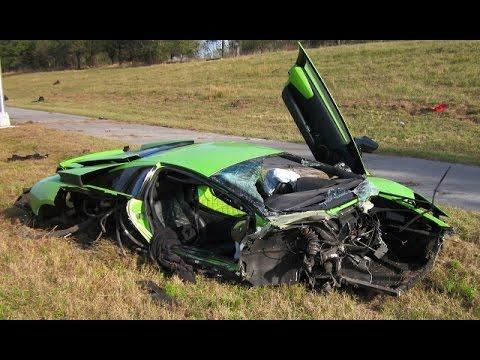 2015 Crazy Lamborghini Ferrari Porsche Jaguar Mclaren Aston Martin Crash  - SuperCar Accident