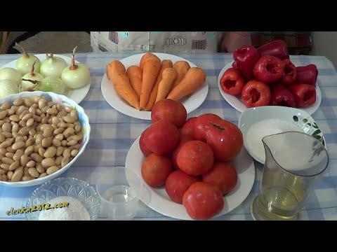Салат с Фасолью на зиму или Лобио, Очень вкусный рецепт заготовки