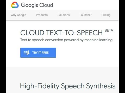 Google's Speech Synthesis, Text to Speech demo, Machine Learning - Python