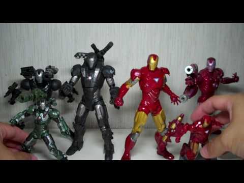 Iron Man 2 Wal-Mart 6-inch War Machine & Mark VI figures