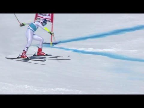 Mikaela Shiffrin - Falls Run 1 - GS - 2016 Audi FIS Ski World Cup Finals
