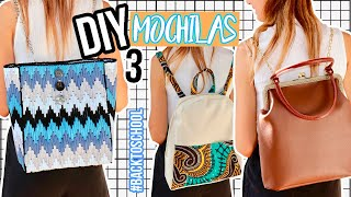 DIY 3 super easy and original backpacks for back to the routine! #DIYBackToSchool