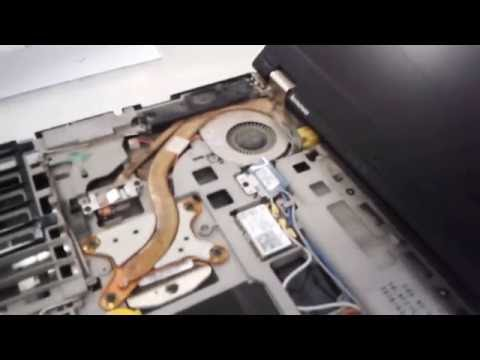 How to disassemble the Lenovo ThinkPad T410 and T420. replacing memory and hard drive. clean fan