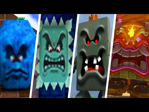 Evolution of Thwomp & Whomp in Super Mario Games (1988 - 2017)