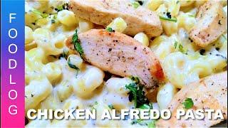 Chicken Alfredo Pasta Recipe by FoodLog - Easy Dinner Recipe | Pasta recipe in Urdu, Hindi & English