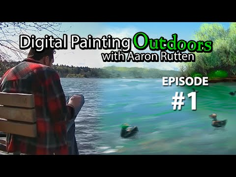Green Lake - Digital Painting Outdoors [Episode #1]