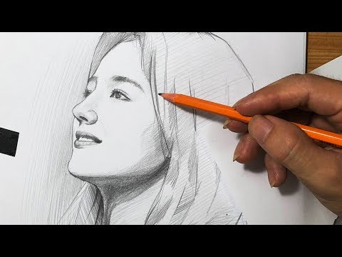 Nancy Drawing With 2B Pencil / DP Truong