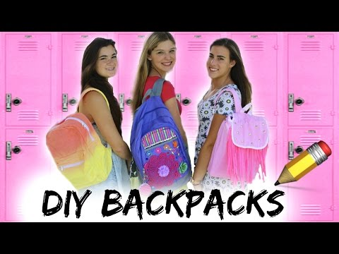 DIY Backpacks (Dip-dye, Fringe, Zoey 101) + Giveaway!