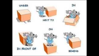 Learn prepositions, Where is the mouse?