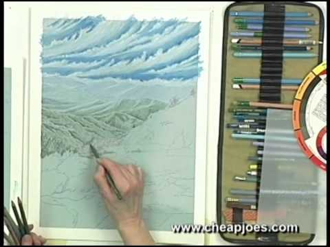 Color Pencil Clouds Colored Pencil Landscapes Dvd