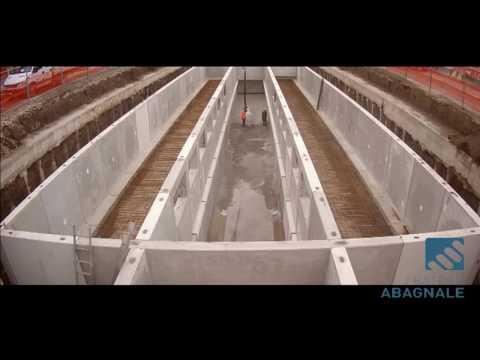 Sistema modulare per la realizzazione di grossi bacini idrici, impianti di prima pioggia, vasche di laminazione, riserve idriche antincendio, impianti di depurazione, muri di sostegno e parcheggi interrat