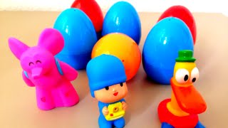 Pocoyo and 6 surprise eggs kids toys
