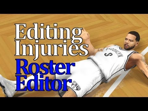 NBA 2K13 Tutorial - Uninjure & Custom Injury Rosters