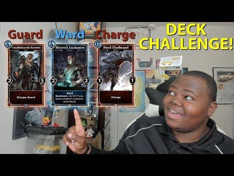 Charge Guard Ward CHALLENGE The Elder Scrolls Legends Return to Clockwork City Random Deck CHALLENGE