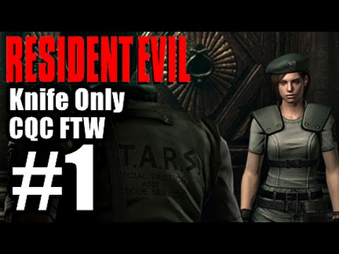 Resident Evil Remastered Hd - Jill Knife Only [cqc Ftw!] Part 1 - Cujo 2 video