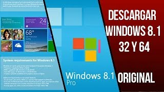 Descargar Windows 8.1| 32 y 64 Bits | Original| 2018| ChArLiE