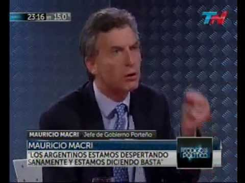 MAURICIO MACRI en CÓDIGO POLÍTICO   2014 09 25