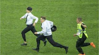 Anti-Kremlin Intruders Run On Pitch During World Cup Final