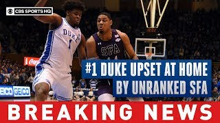 #1 Blue Devils upset by Lumberjacks in stunning overtime loss at home | CBS Sports HQ