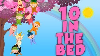 Ten In The Bed Babies | Nursery Rhymes Songs For Kids | Children Song By Toddlers Toons