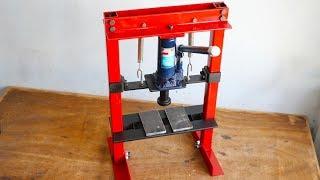How To Make Hydraulic Press Machine || DIY Mini Hydraulic Press || Without Welding