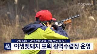 강릉,양양 등 광역수렵장 운영