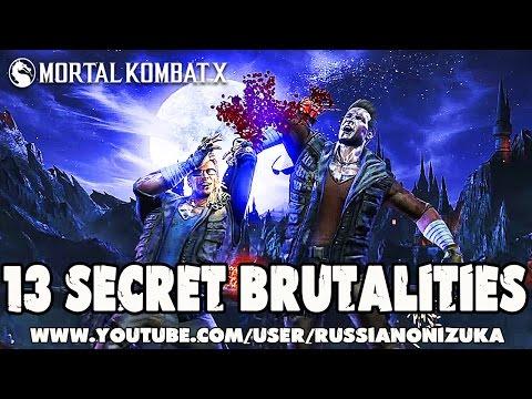 13 СЕКРЕТНЫХ БРУТАЛОК И ПАСХАЛОК - Mortal Kombat XL - Secret Brutality
