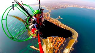 Amazing Paragliding Fly to Nessebar Bulgaria seaside Historical City