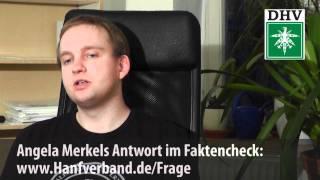 Angela Merkel zur Legalisierung Kommentar zur Antw