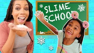 Pretend Teacher Makes FLuffy Slime at Slime School  - New Toy School