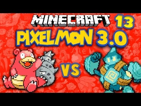 Slowbro v Golett ★ MINECRAFT PIXELMON 3.0 ★ Ep.13 (Pokemon)