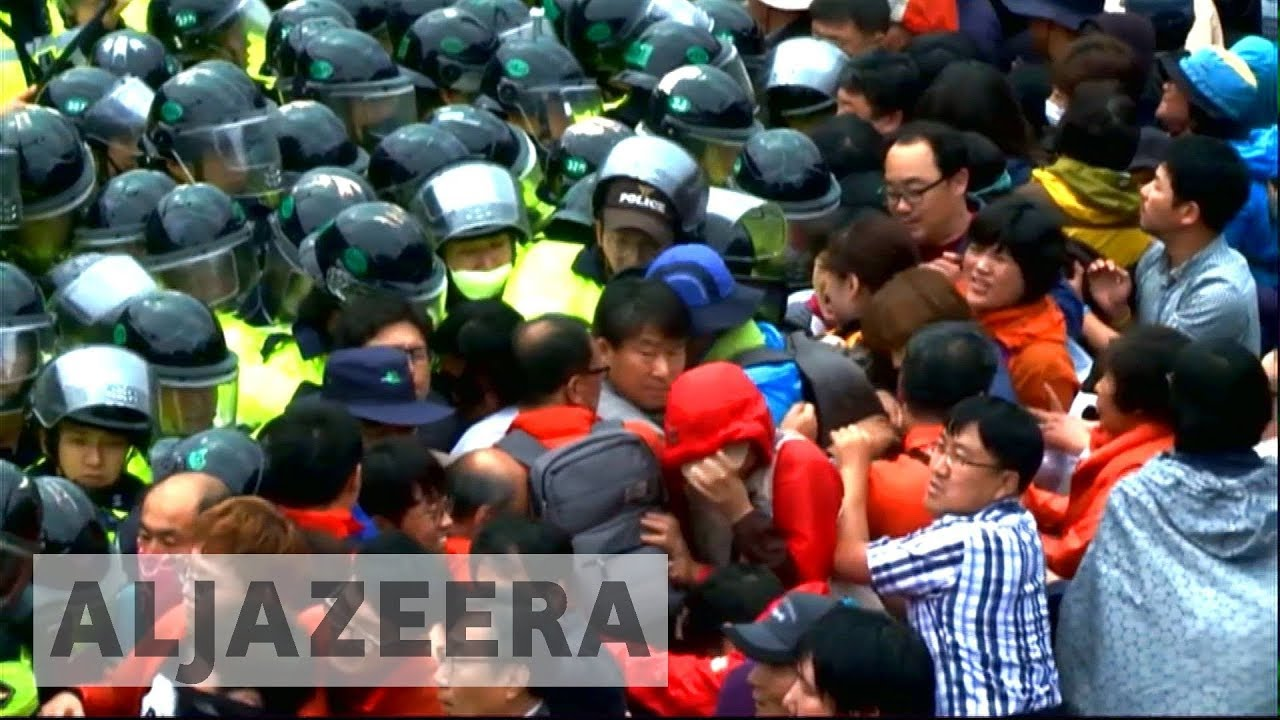 Protests after South Korea deploys anti-missile system